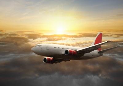 Big-aircraft-at-sunset